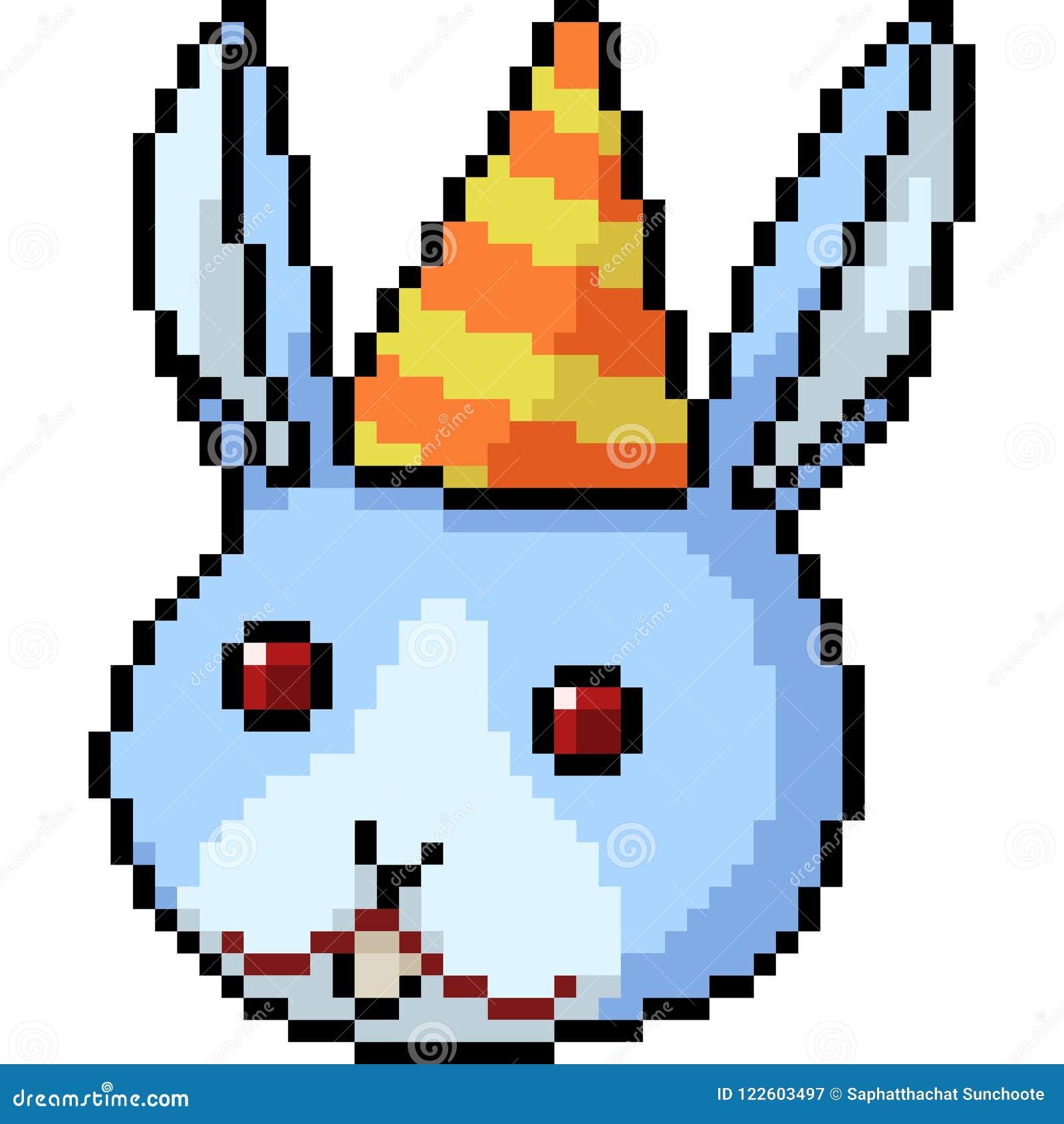 Tête De Lapin Dart De Pixel De Vecteur Illustration De