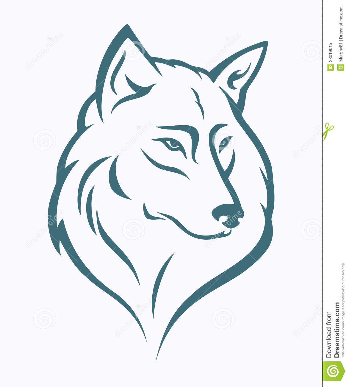 T te de loup illustration de vecteur illustration du beau 28019015 - Dessin de loup simple ...