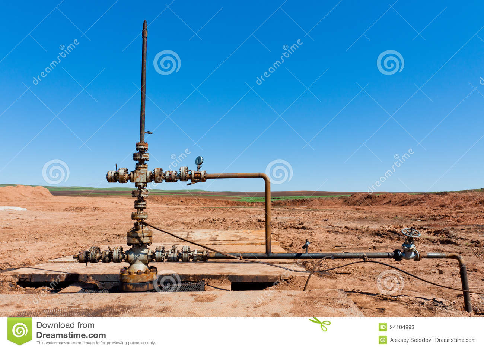 Tête de puits de pétrole