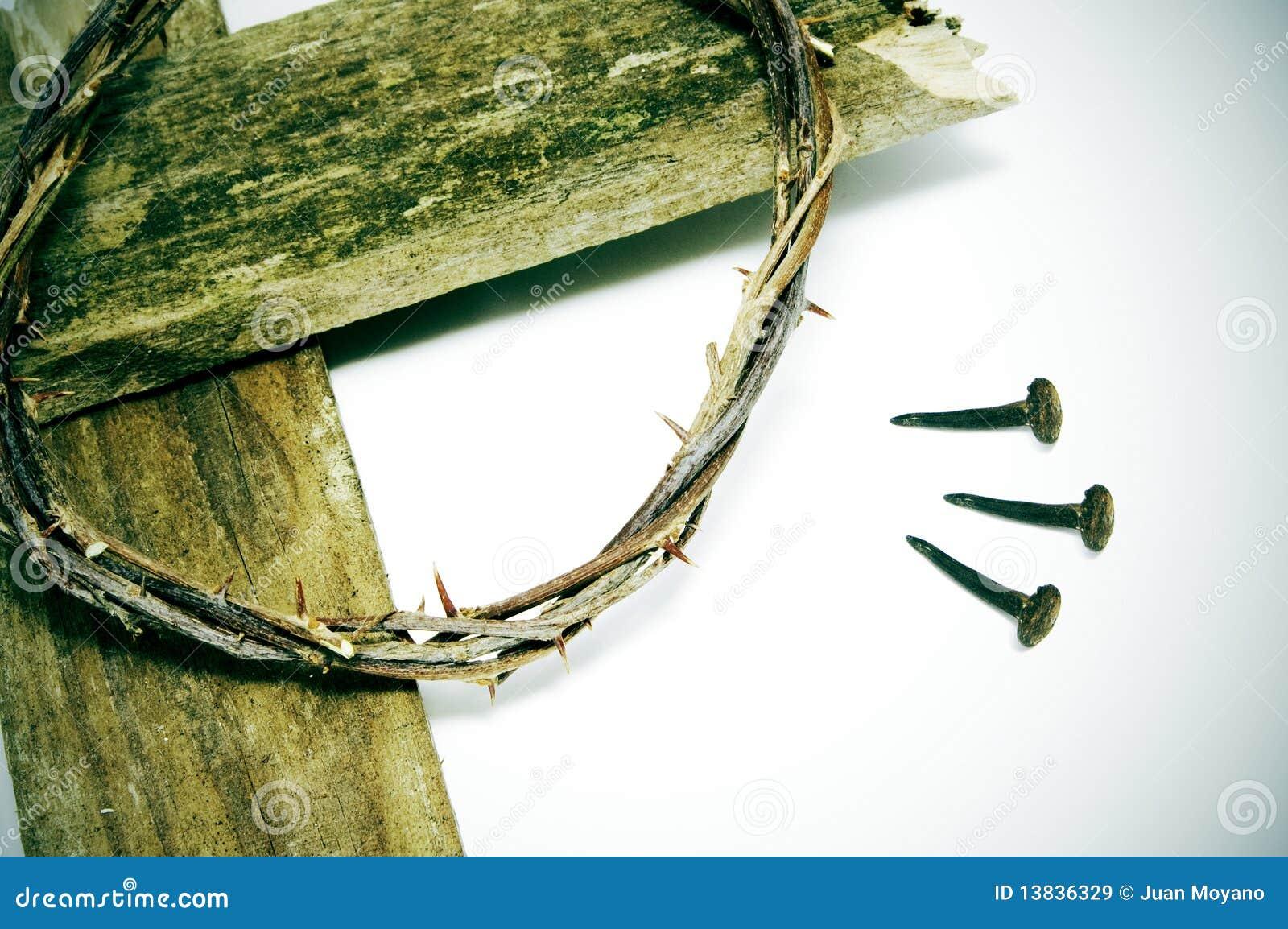 Tête des épines, de la croix et des clous