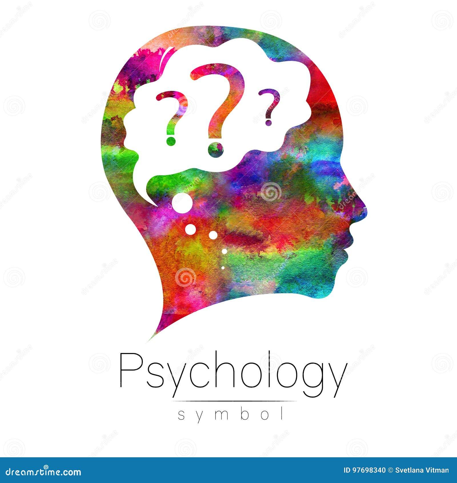 Tête moderne avec la question à l intérieur du cerveau signe de la psychologie Humain de profil Type créateur Symbole dedans Conc