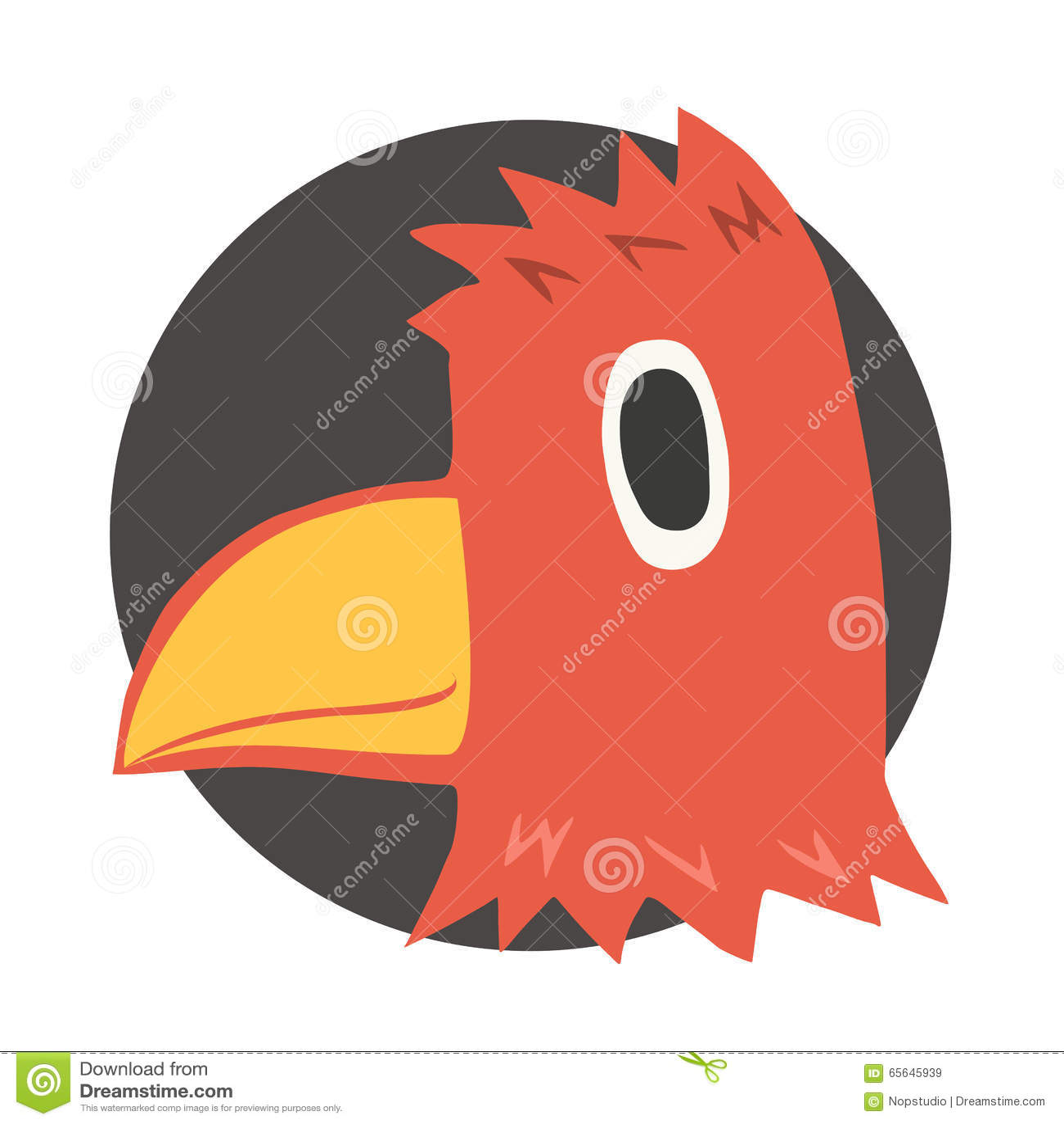Tête rouge d oiseau