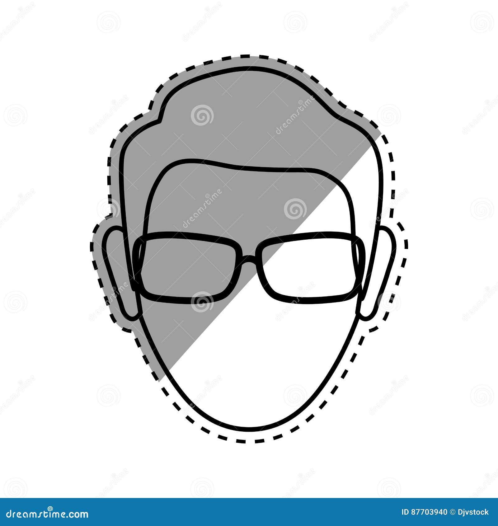 Tête sans visage d homme