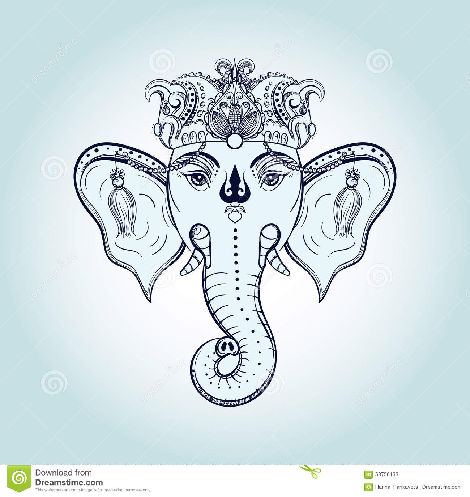 hindu elephant drawing