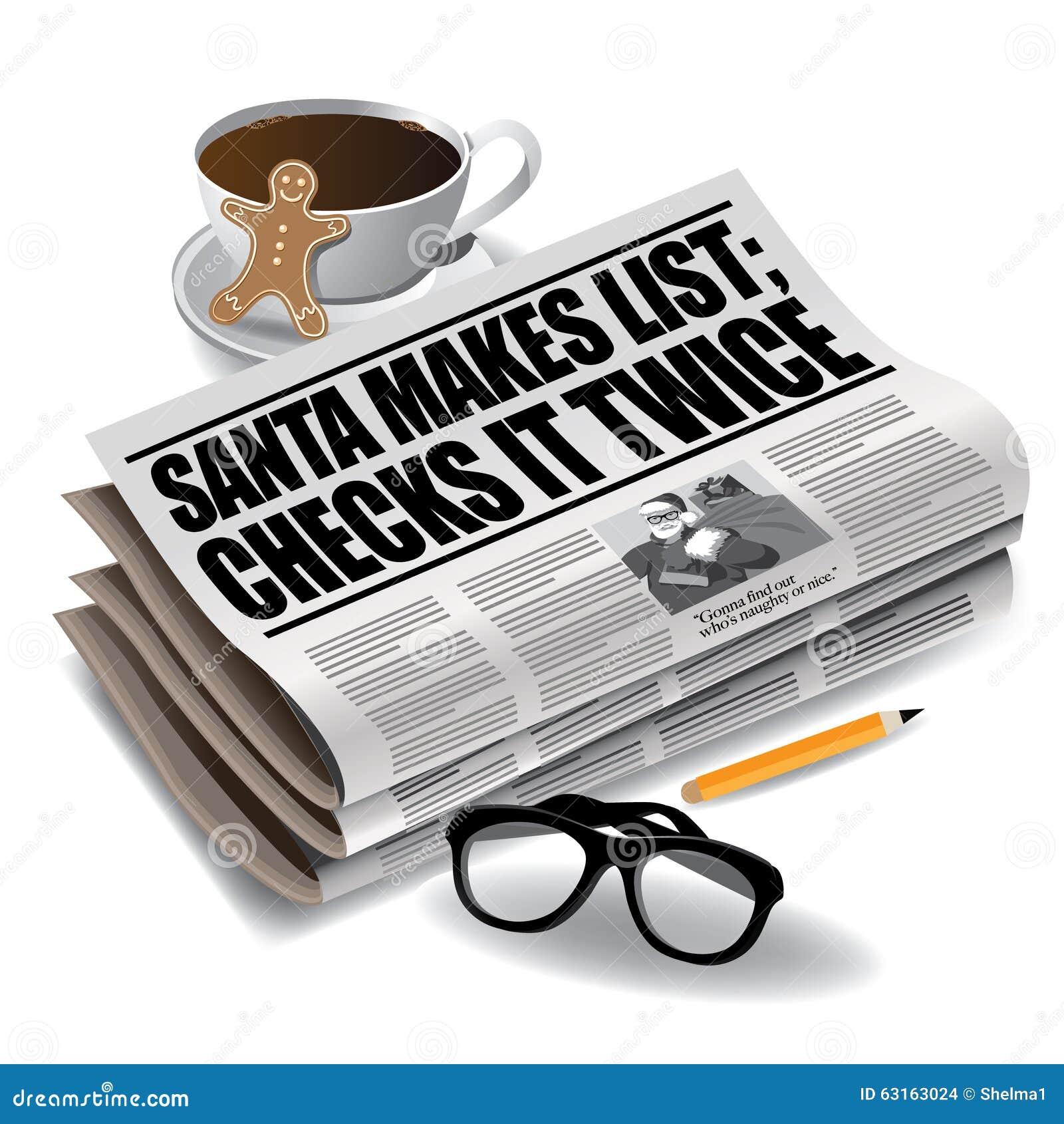 Título de periódico de Santa Makes List