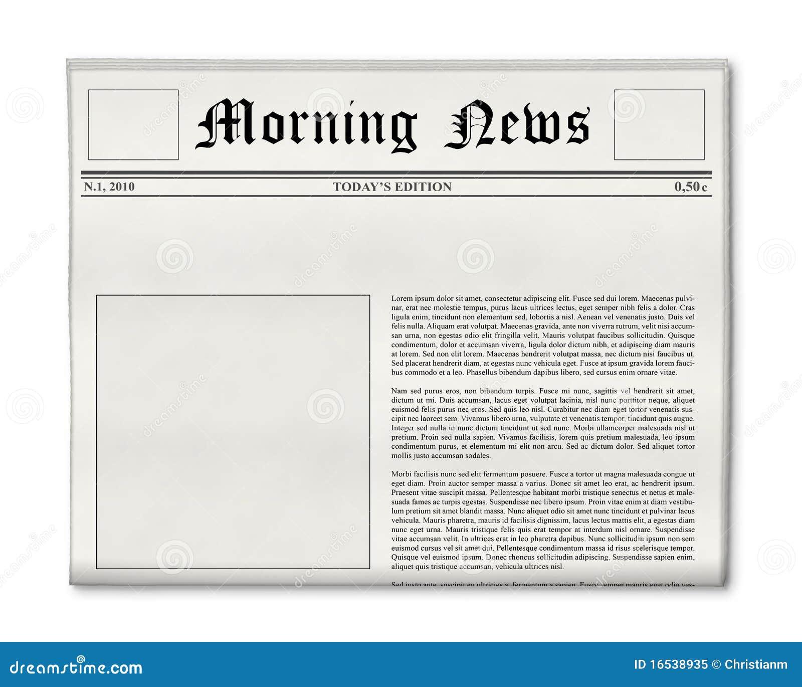 Modelo Del Título De Periódico Foto de archivo - Imagen de gráfico ...