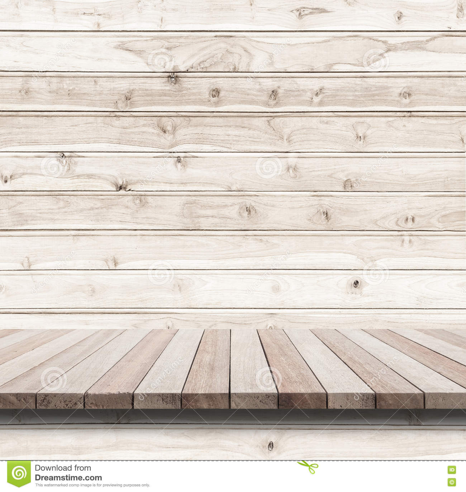 Töm överkanten av trähyllan eller kontra på wood bakgrund