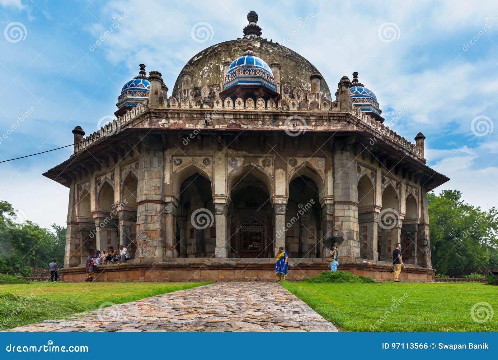 Túmulo do jardim do ` s de Isa Khan, Deli