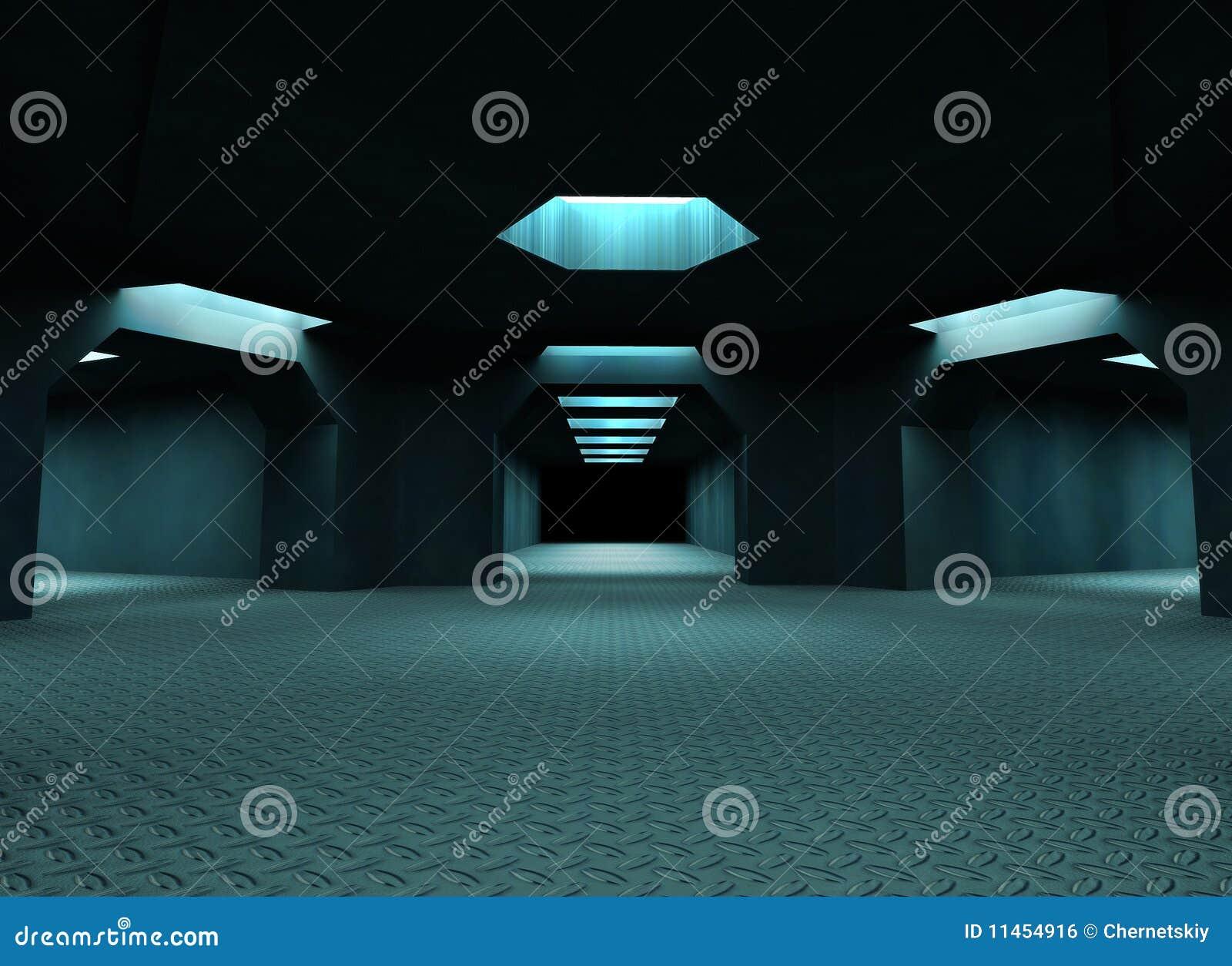 Túneles misteriosos oscuros