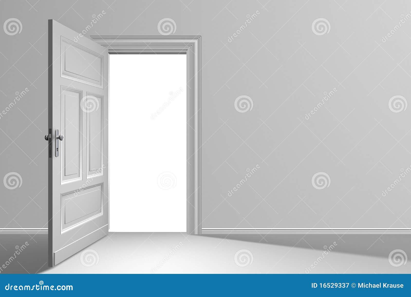 Tür geöffnet