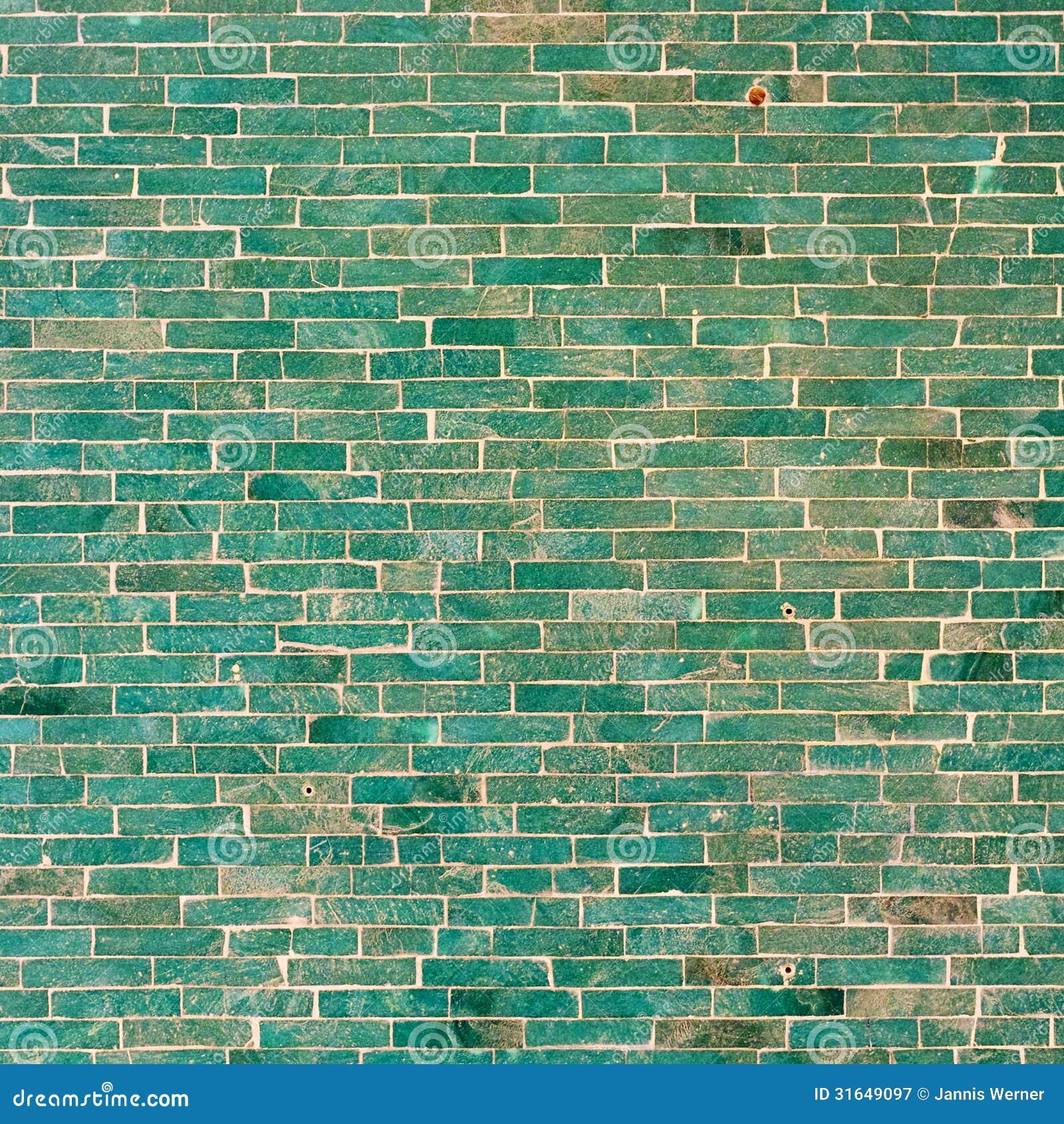 Türkis-Fliesen-Wand-Hintergrund Stockbild