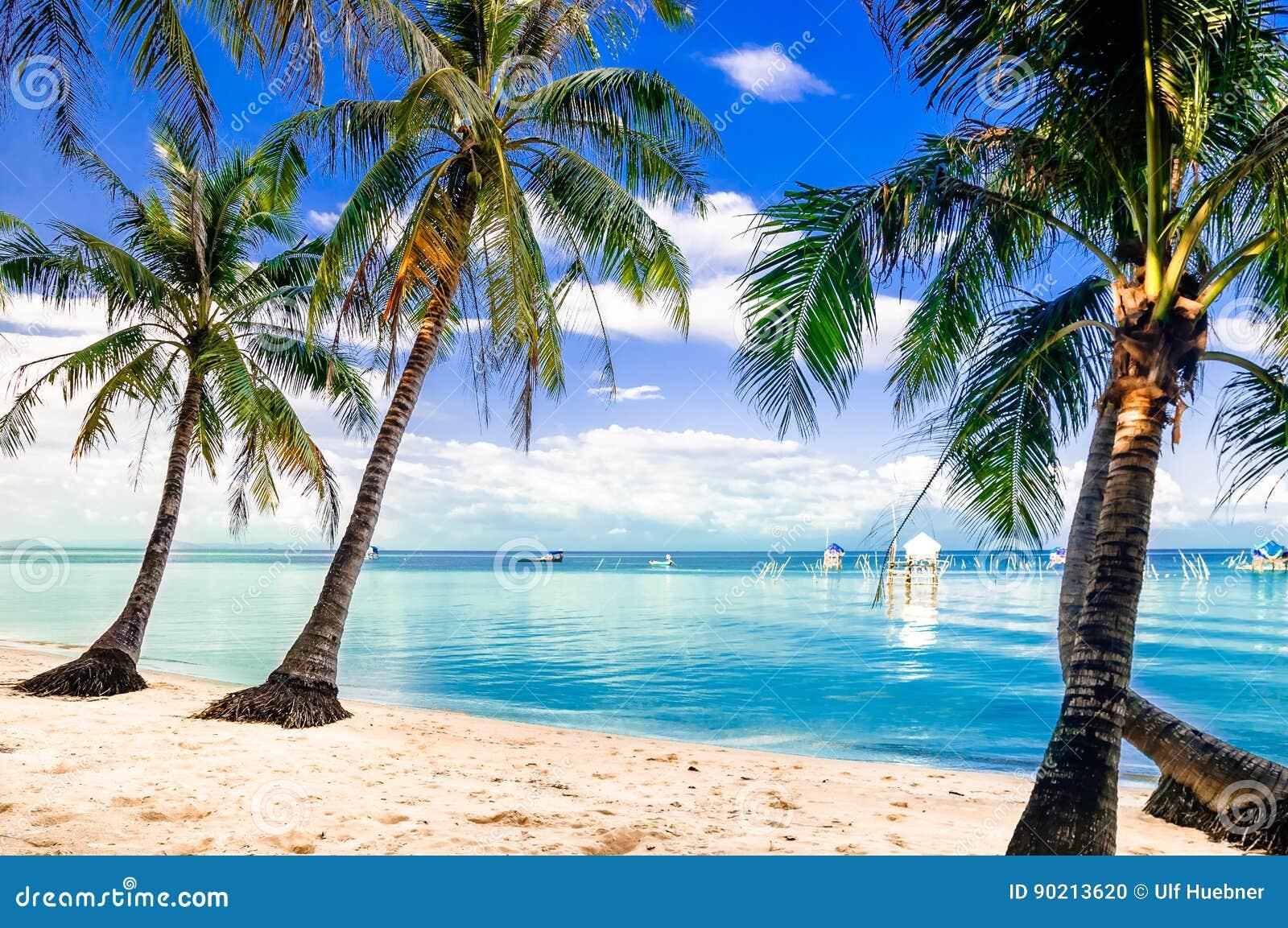 Türkis Palm Beach durch Phu-quoc Insel in Vietnam