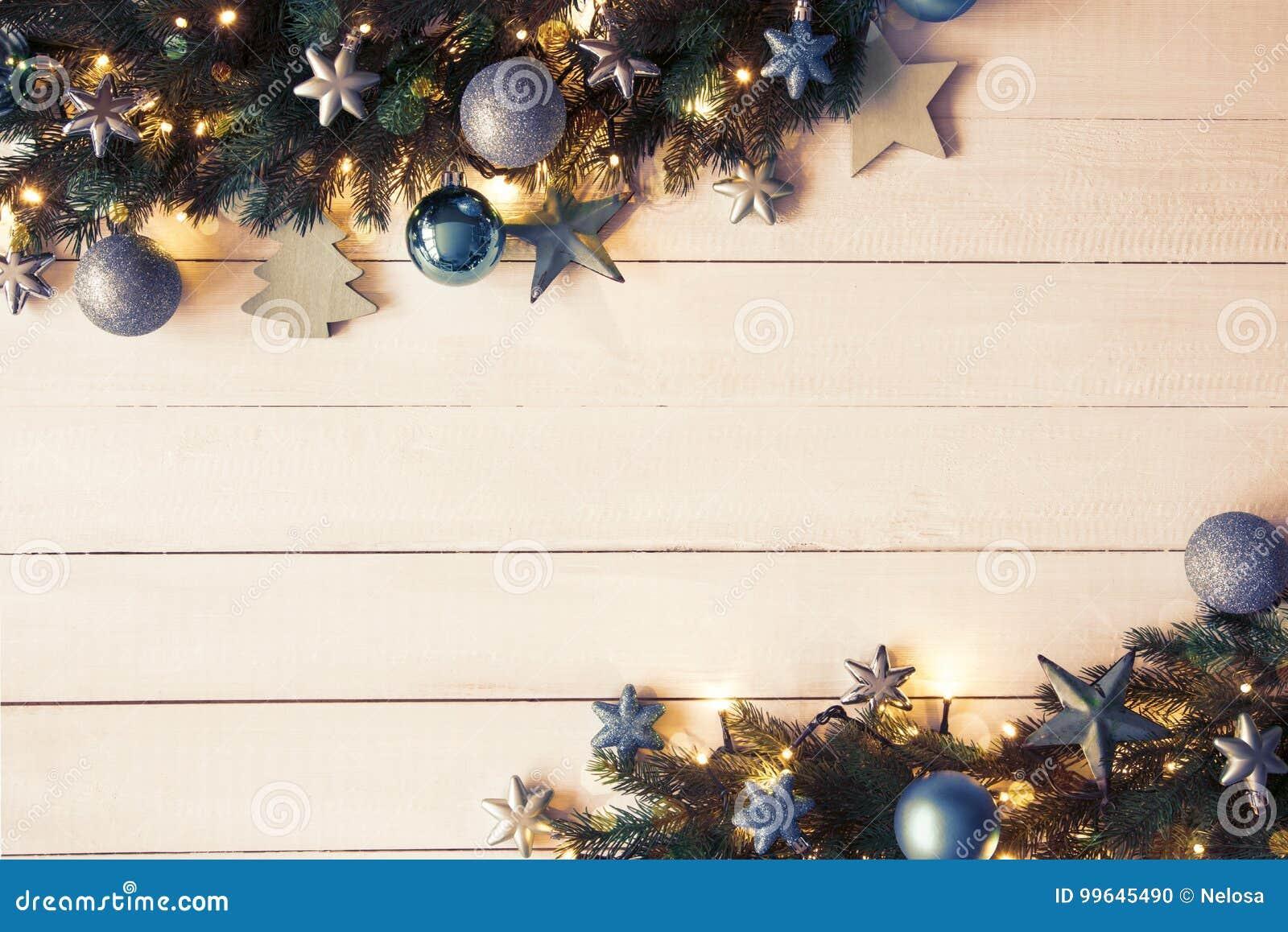 Türkis-Weihnachtsfahne, Rahmen, Tannenzweige, Instagram-Filter ...