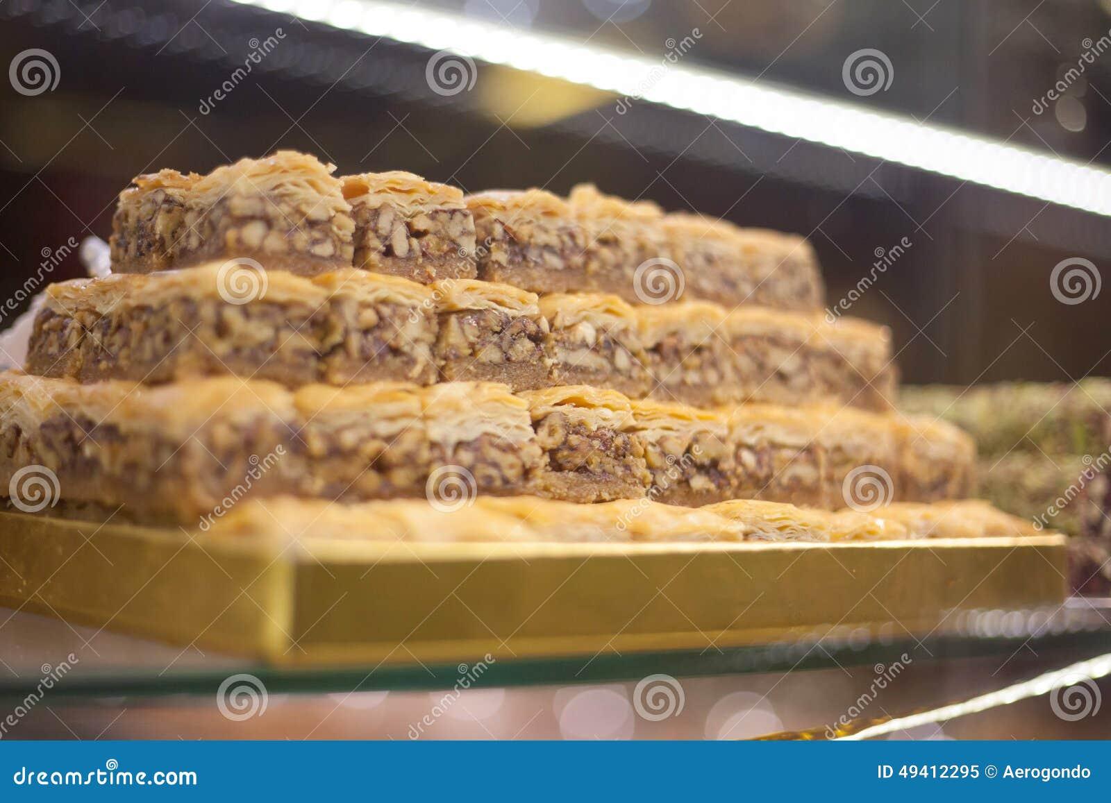 Download Türkische Bonbons In Der Konditorei Stockbild - Bild von weiß, zucker: 49412295