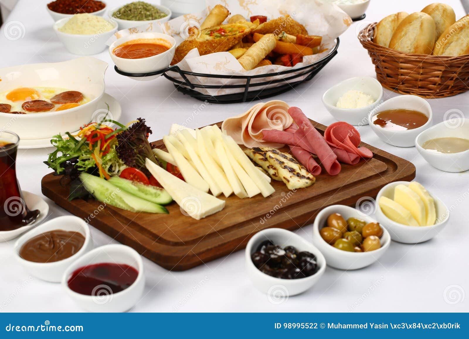 Lebensmittel Frühstücks-Platte