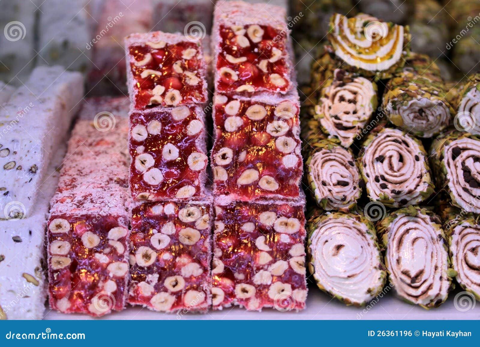 Türkische Freude mit Pistazie und Mandeln