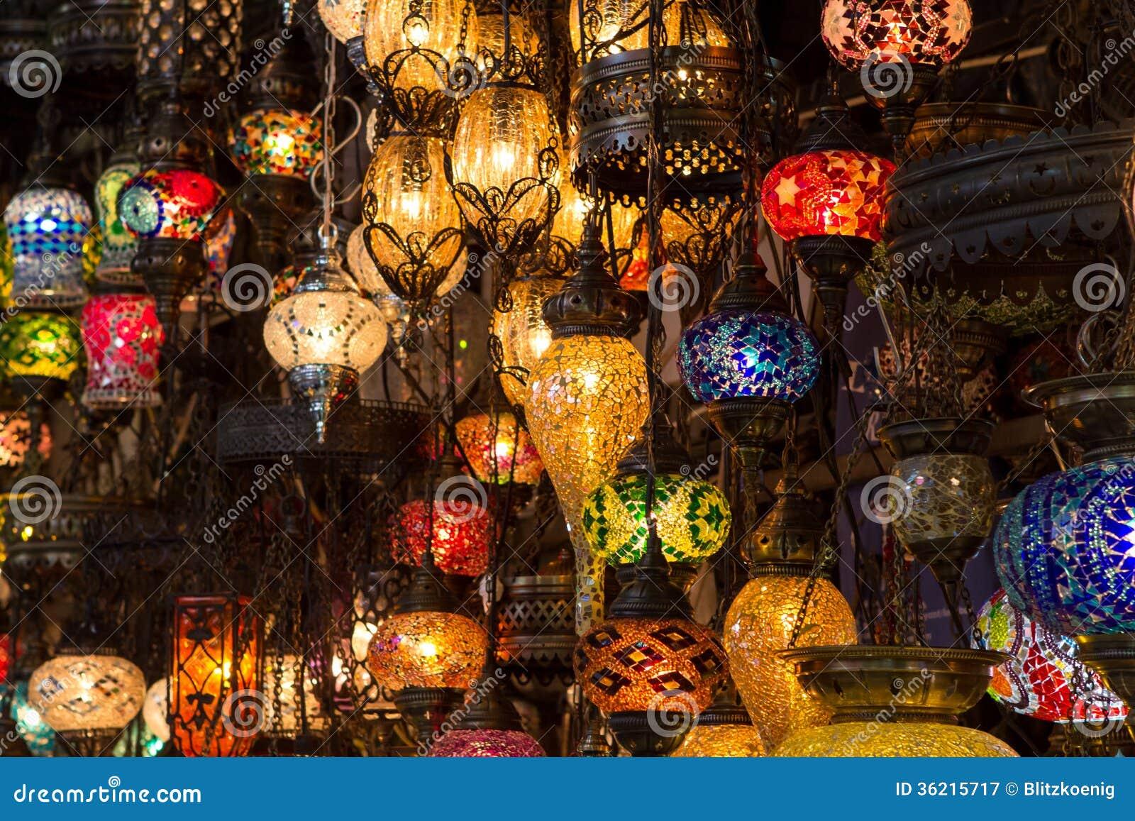Turkische Lampen Stockbild Bild Von Bunt Leuchtend 36215717