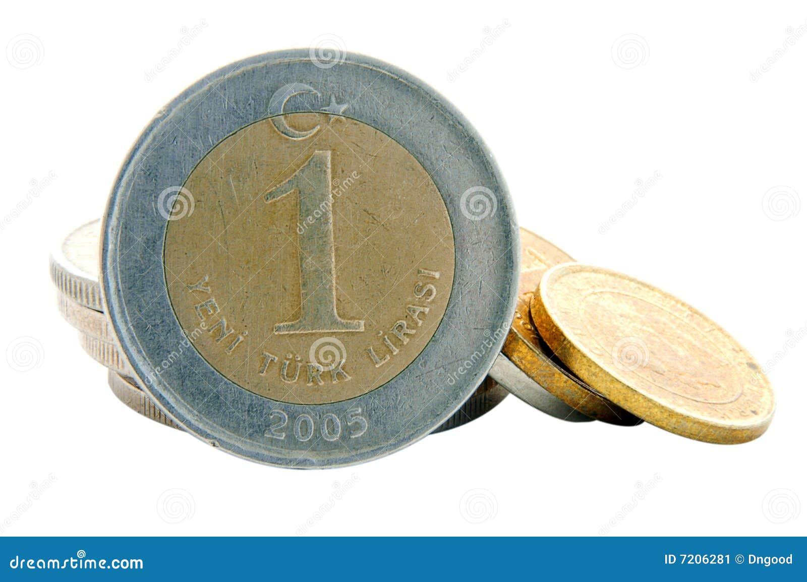 Türkische Lira Münze 1ytl Stockbild Bild Von Europa Rechnung