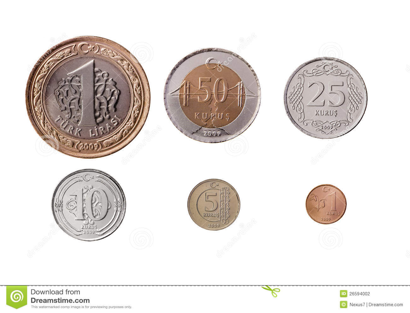 Türkische Lira Münzen Eingestellt Stockfoto Bild Von Bargeld