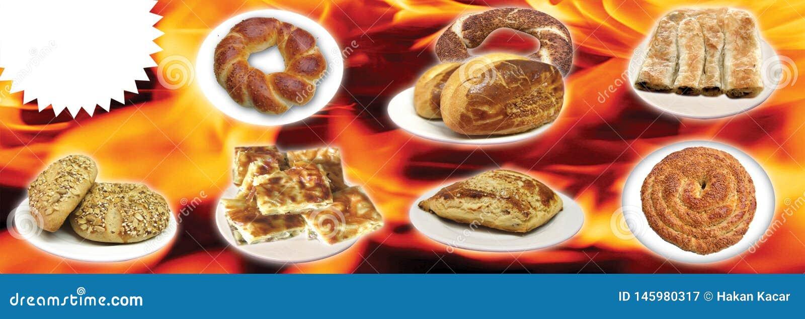Türkische Nahrungsmittel, die Türkischen sprechen: tà ¼ rk yemekleri, doner,