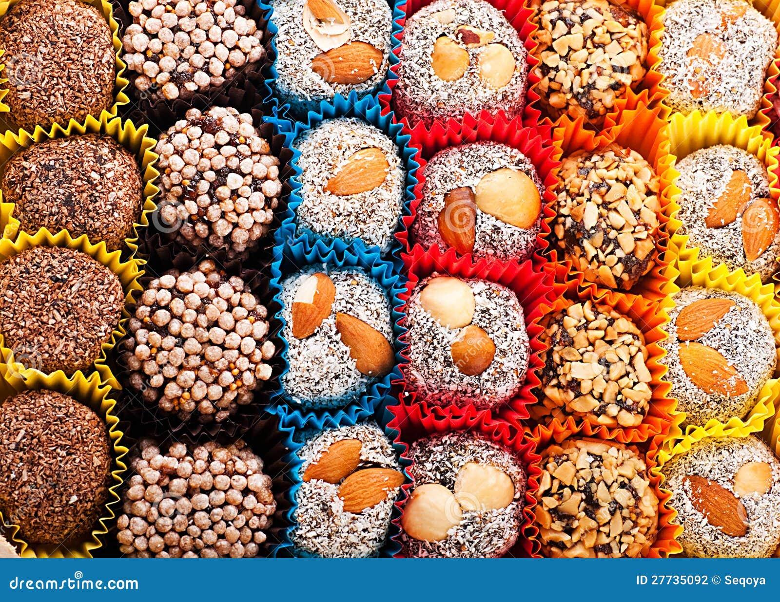 Türkische Süßigkeiten und Bonbons, geschmackvoll