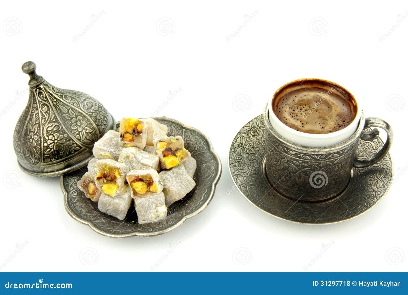 Türkischer Kaffee und türkische Freude