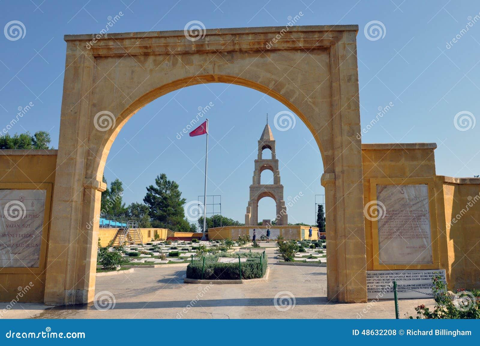 Türkischer Kriegs-Kirchhof, Gallipoli, die Türkei