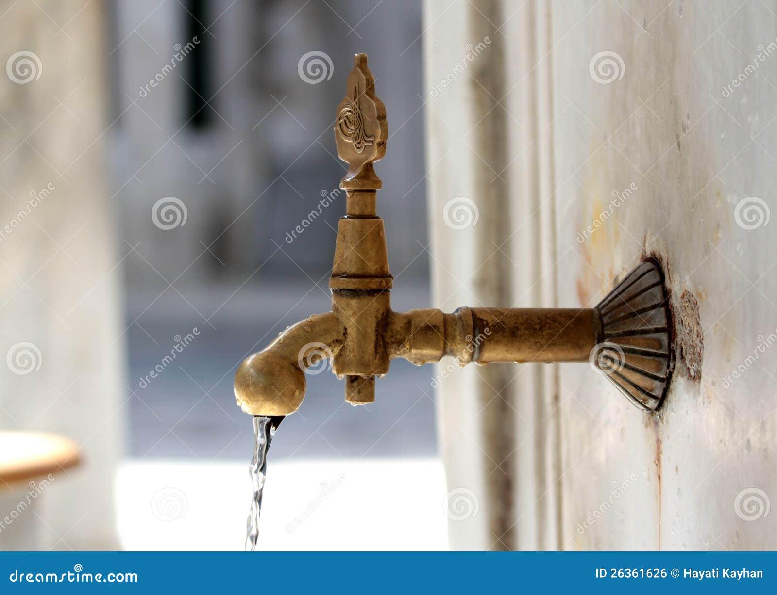 Türkischer Osmaneart-Wasserhahn