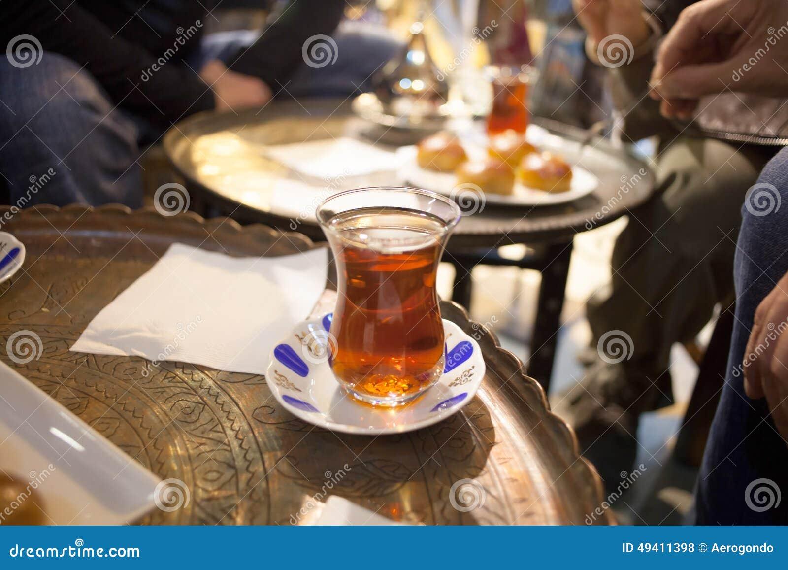 Download Türkischer Tee stockfoto. Bild von heiß, kaffee, nachtisch - 49411398