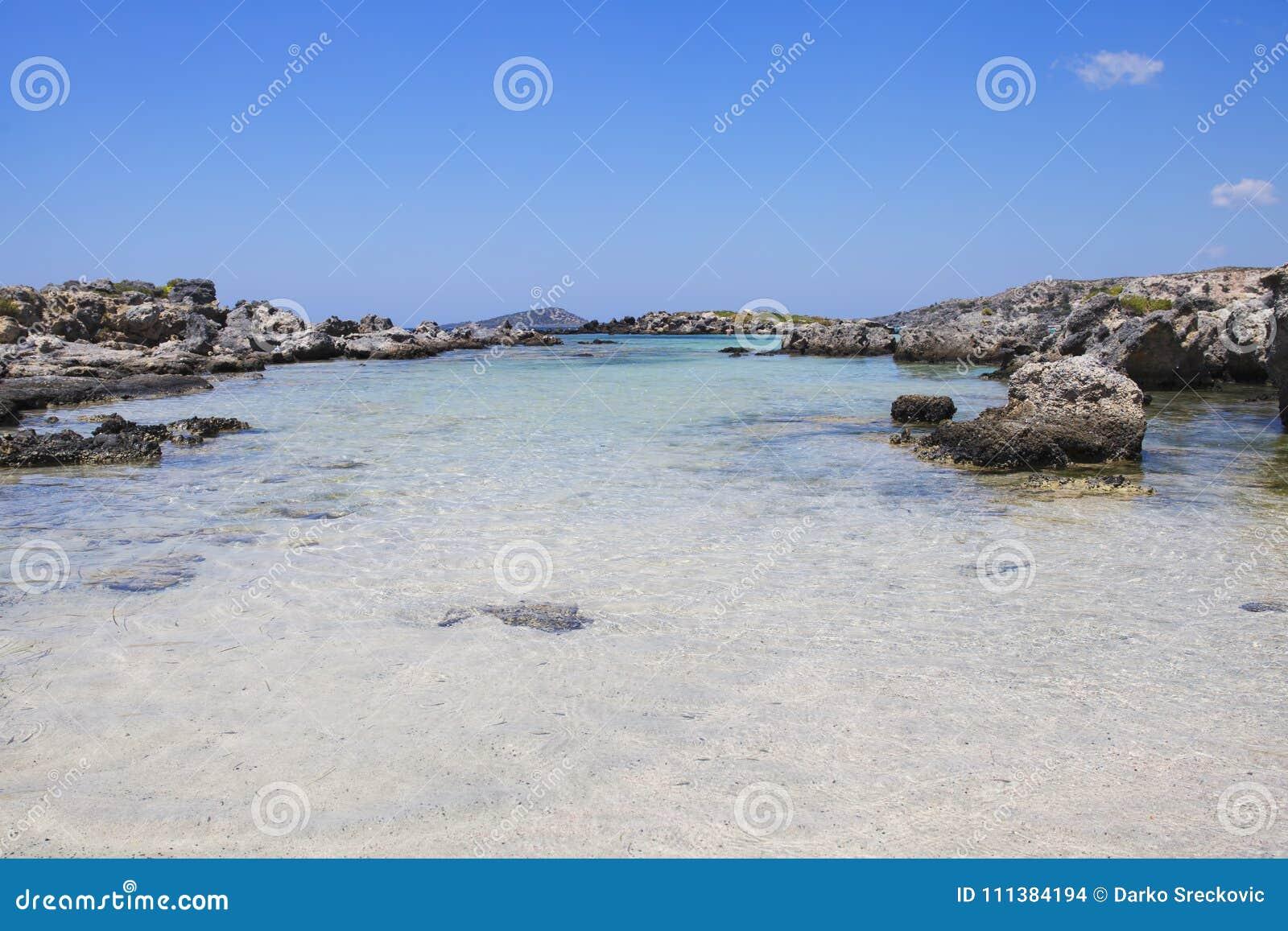 Türkiswasser An Elafonisi Strand Kreta Insel Griechenland