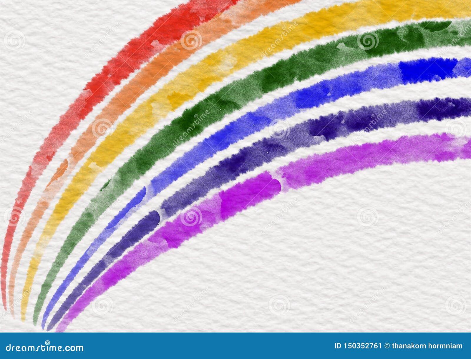 Tęcza kolory opuszczający na białej księgi teksturze