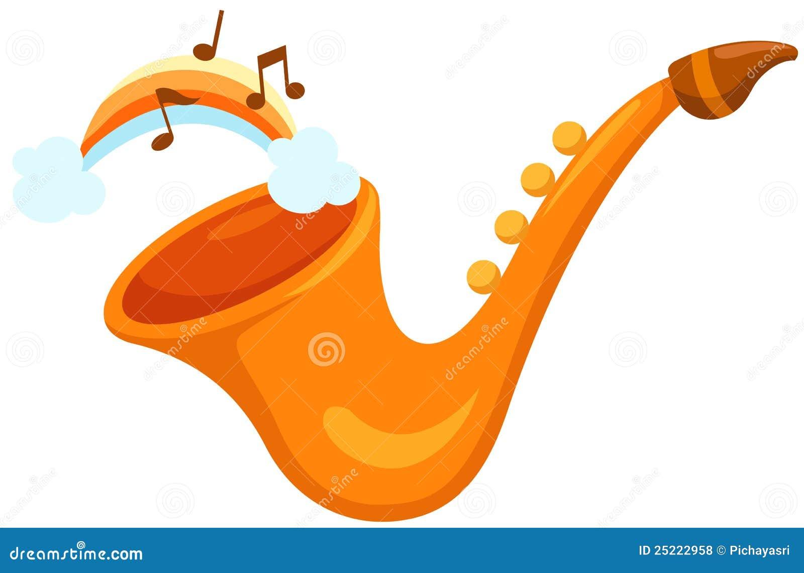 Tęcza saksofon