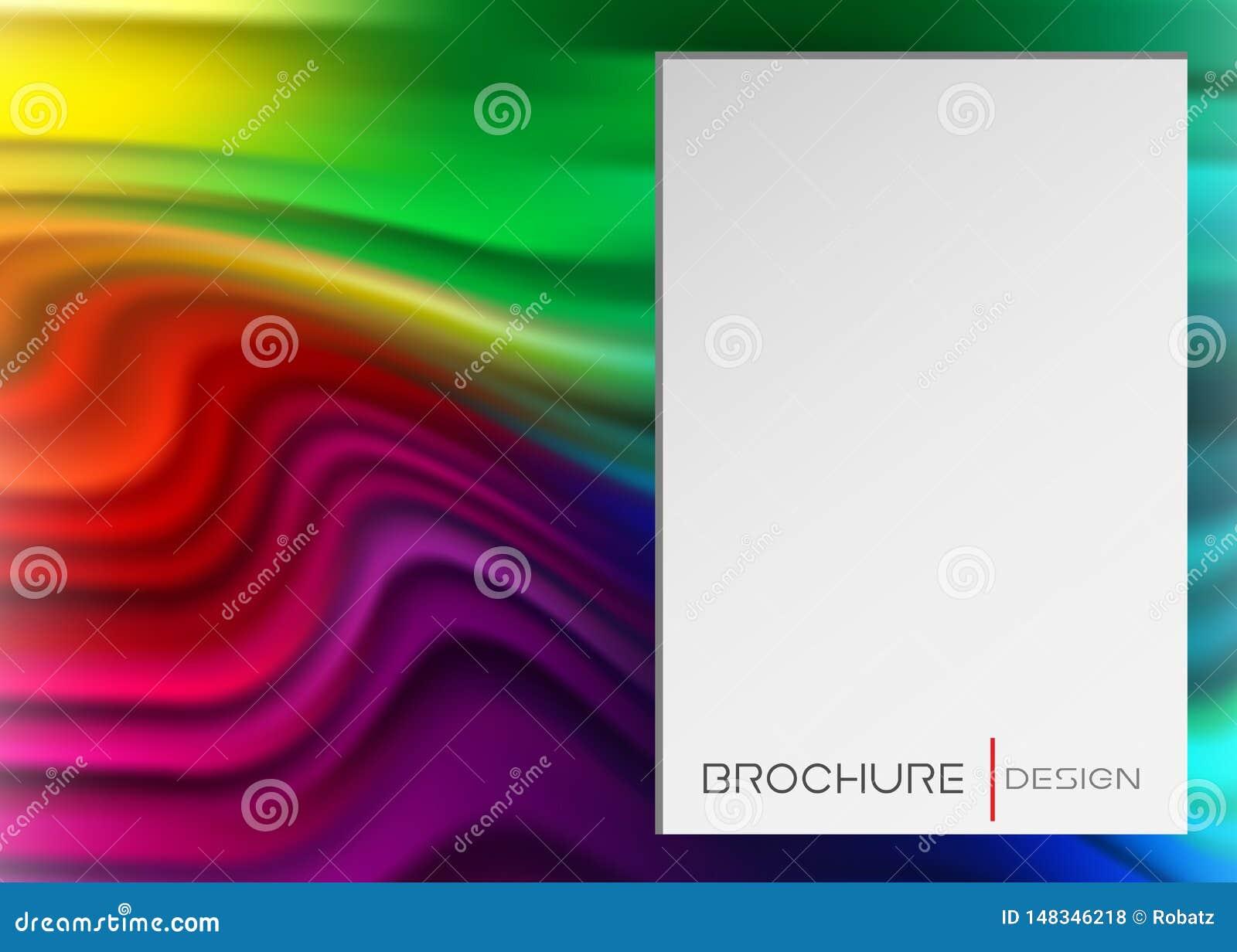 Tęcza sztandar, atrament lub muśnięcia uderzenie, Ciekły kształt, Abstrakcjonistyczny Rzadkopłynny miękki skutek Kolorowa gradien