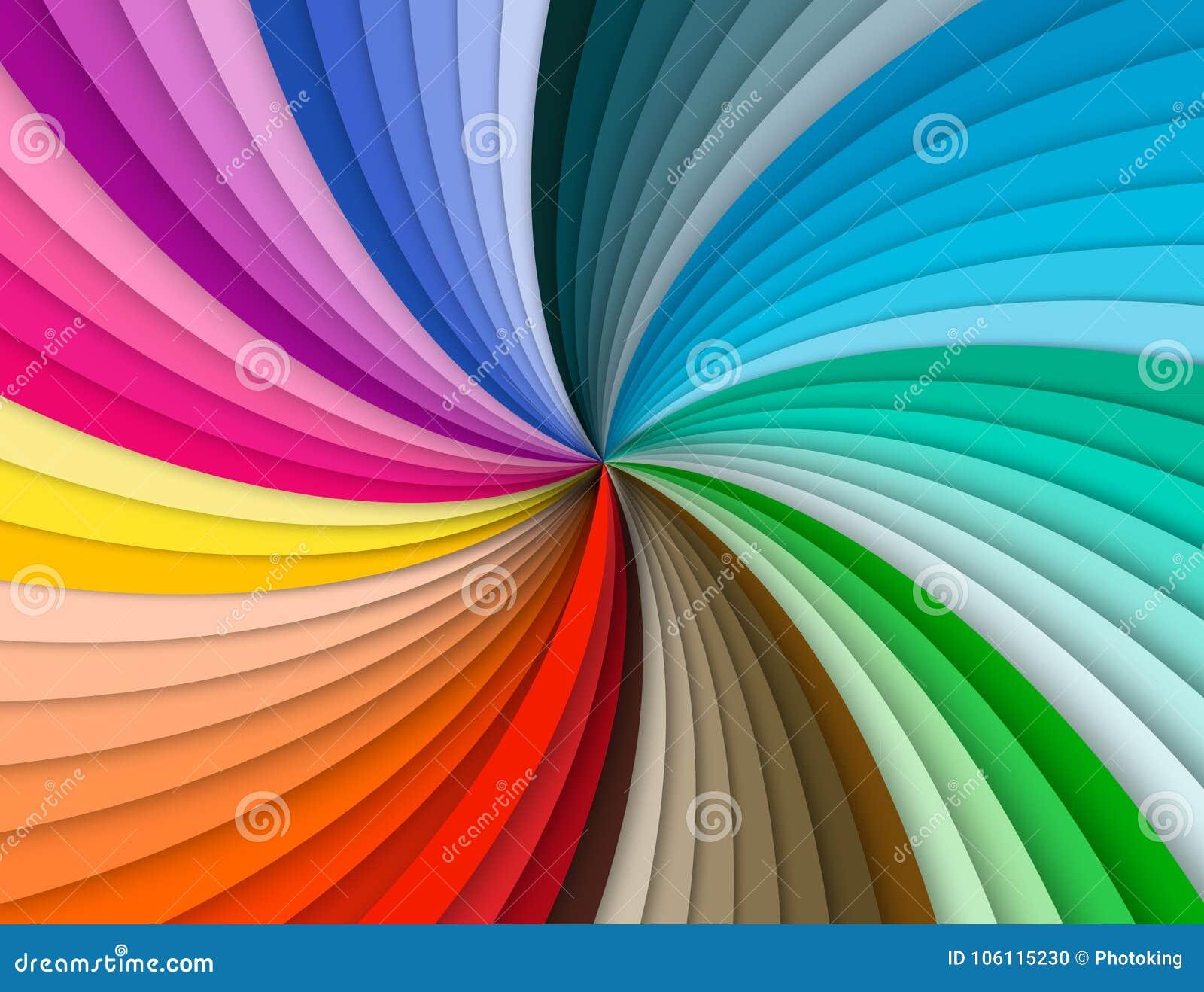 Tęczy kolorowy ślimakowaty tło