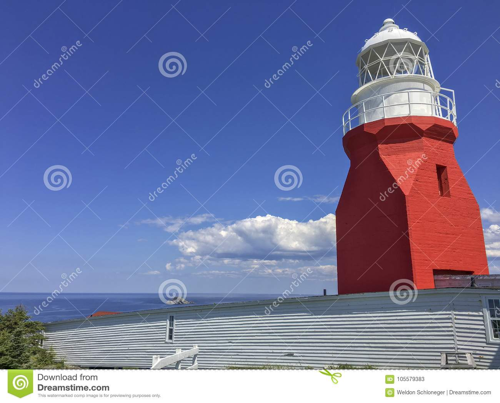 Tęsk punkt latarnia morska przy Twillingate, wodołaz