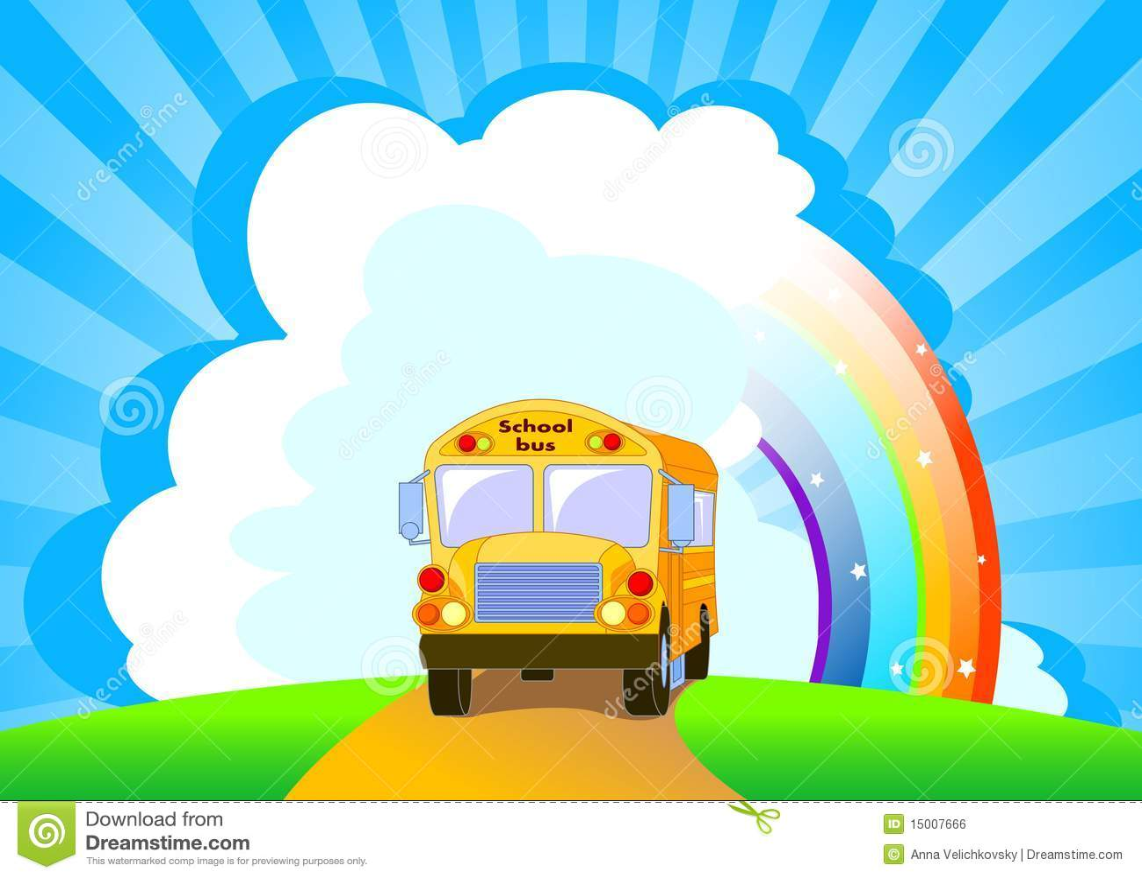 Tła autobusu szkoły kolor żółty