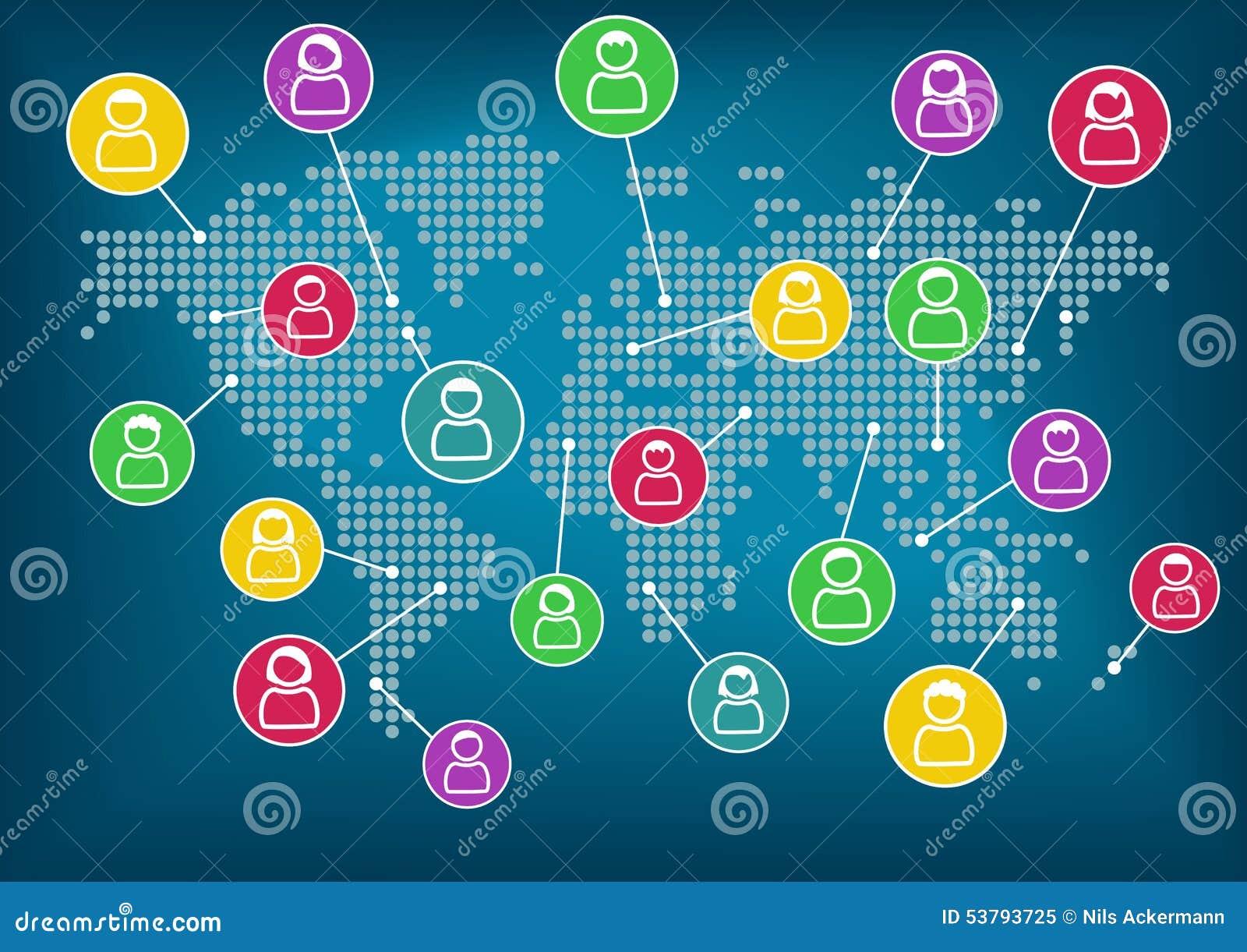 Tła binarnego kodu pojęcia grupy sieci ludzie ogólnospołeczni Globalna komunikacja i współpraca dookoła świata Wektorowy tło