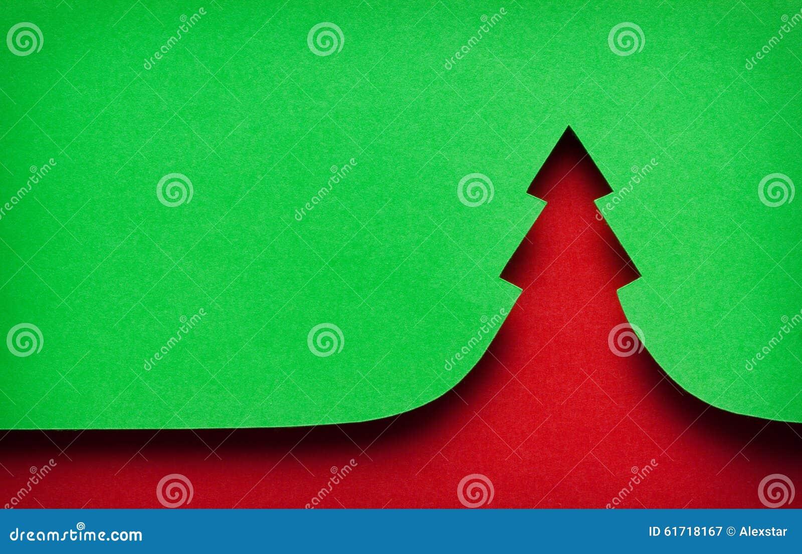 Tła bożych narodzeń ilustraci papieru czerwieni drzewo