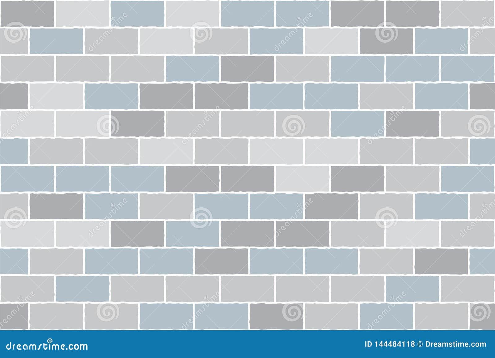 Tła cegły grey ściana Wektorowy tło bezszwowy wzoru