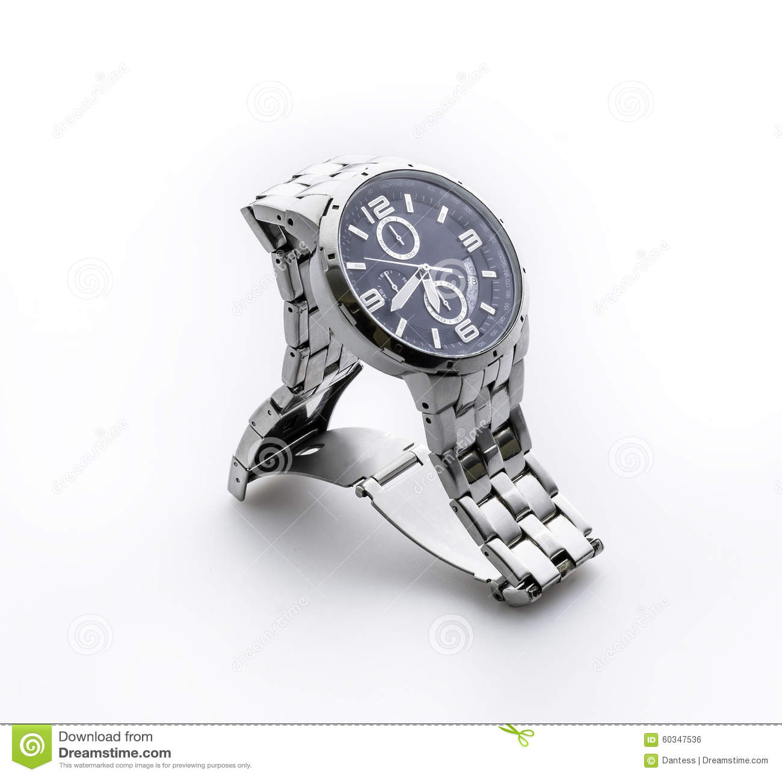 Tła chronografu zegarka biel