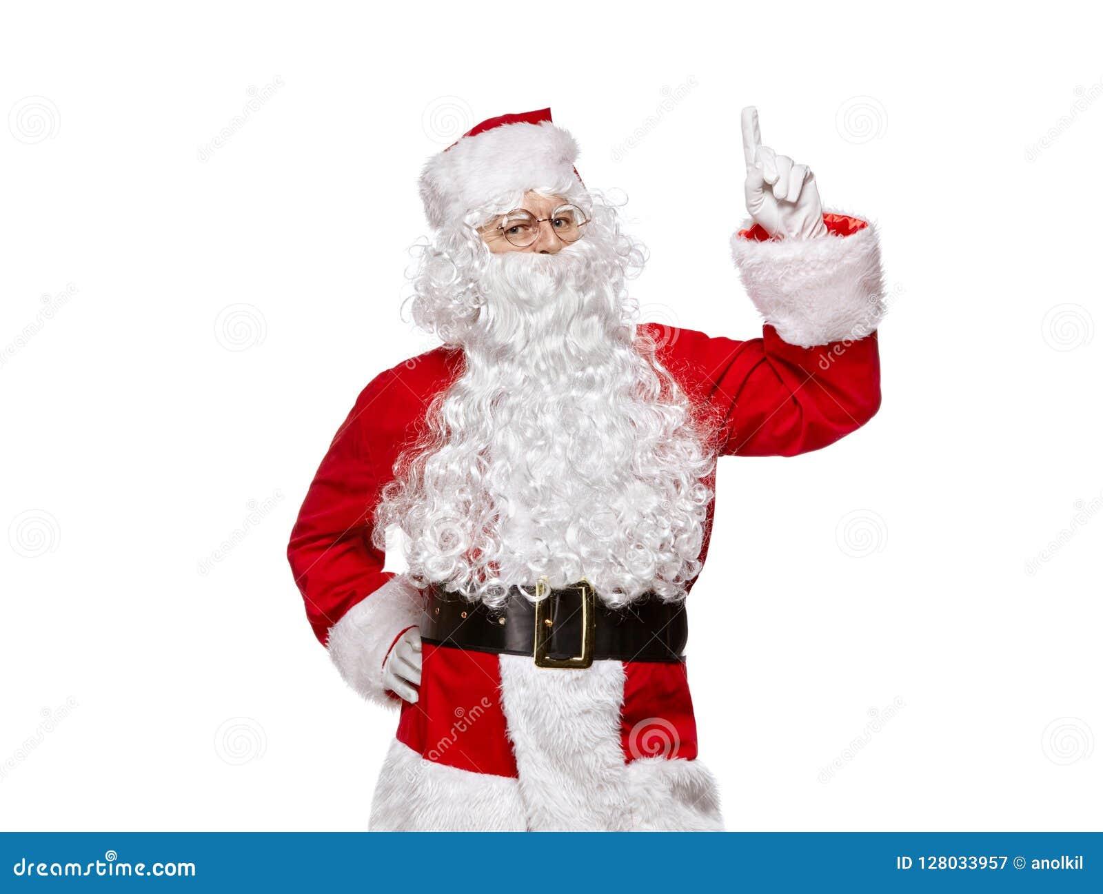 Tła Claus odosobniony Santa biel