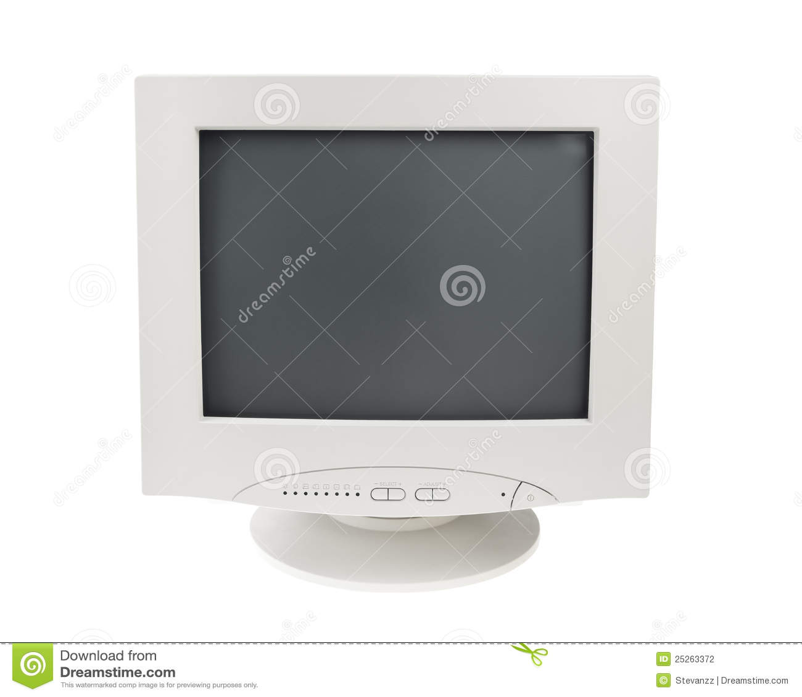 Tła crt pokaz odizolowywający monitoru stary biel