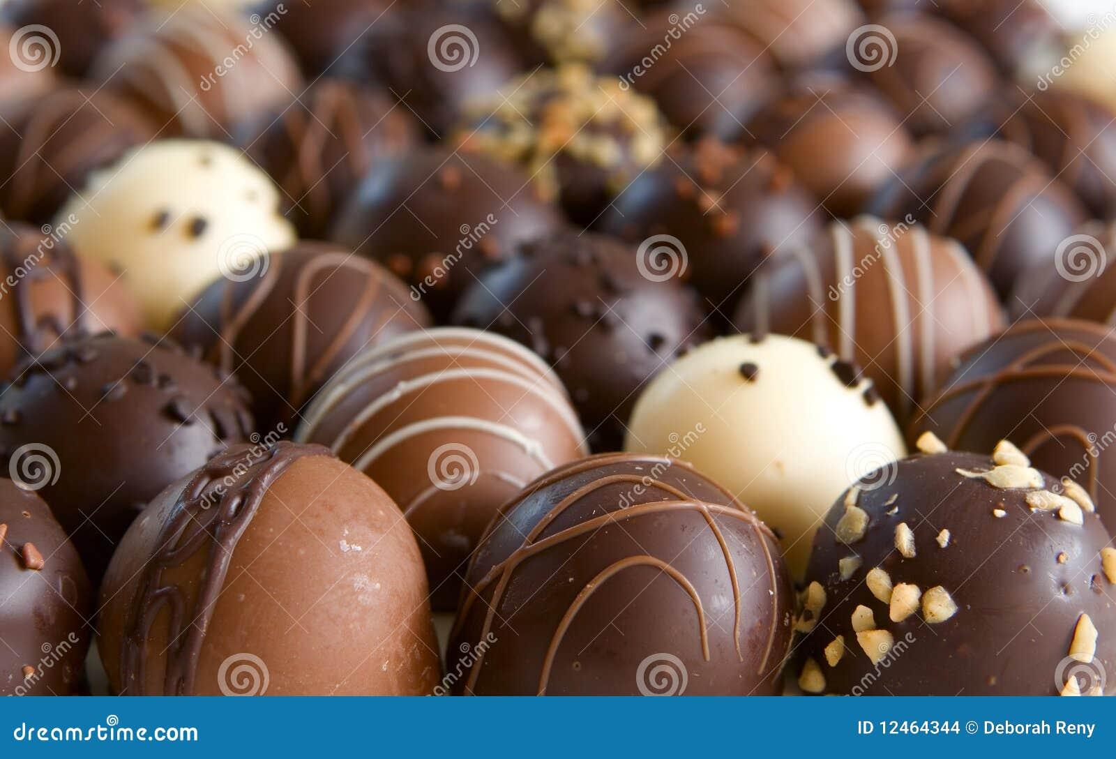 Tła cukierku czekoladowa trufla