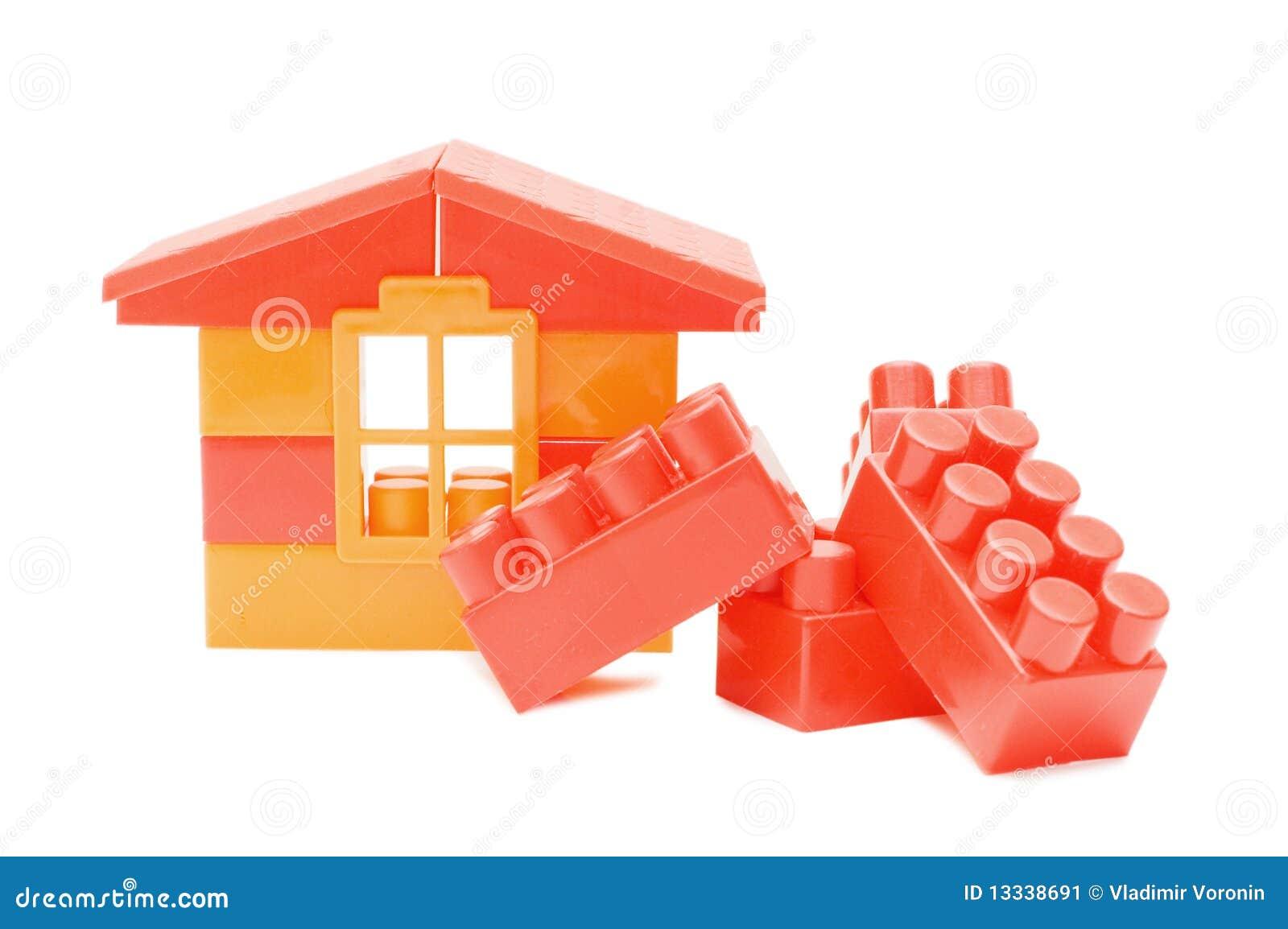 Tła dom odizolowywający zabawkarski biel