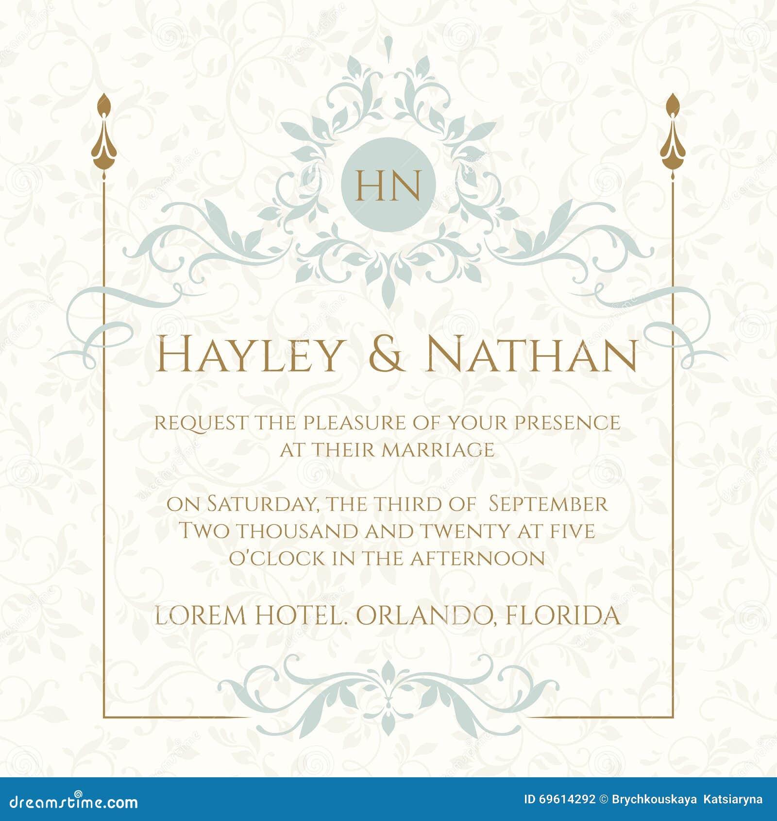 Tła eleganci serc zaproszenia romantycznego symbolu ciepły ślub Dekoracyjna kwiecista rama i monogram