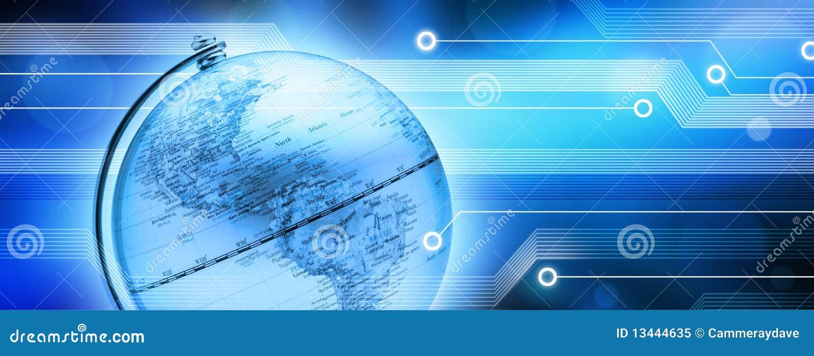Tła globalny technologii świat