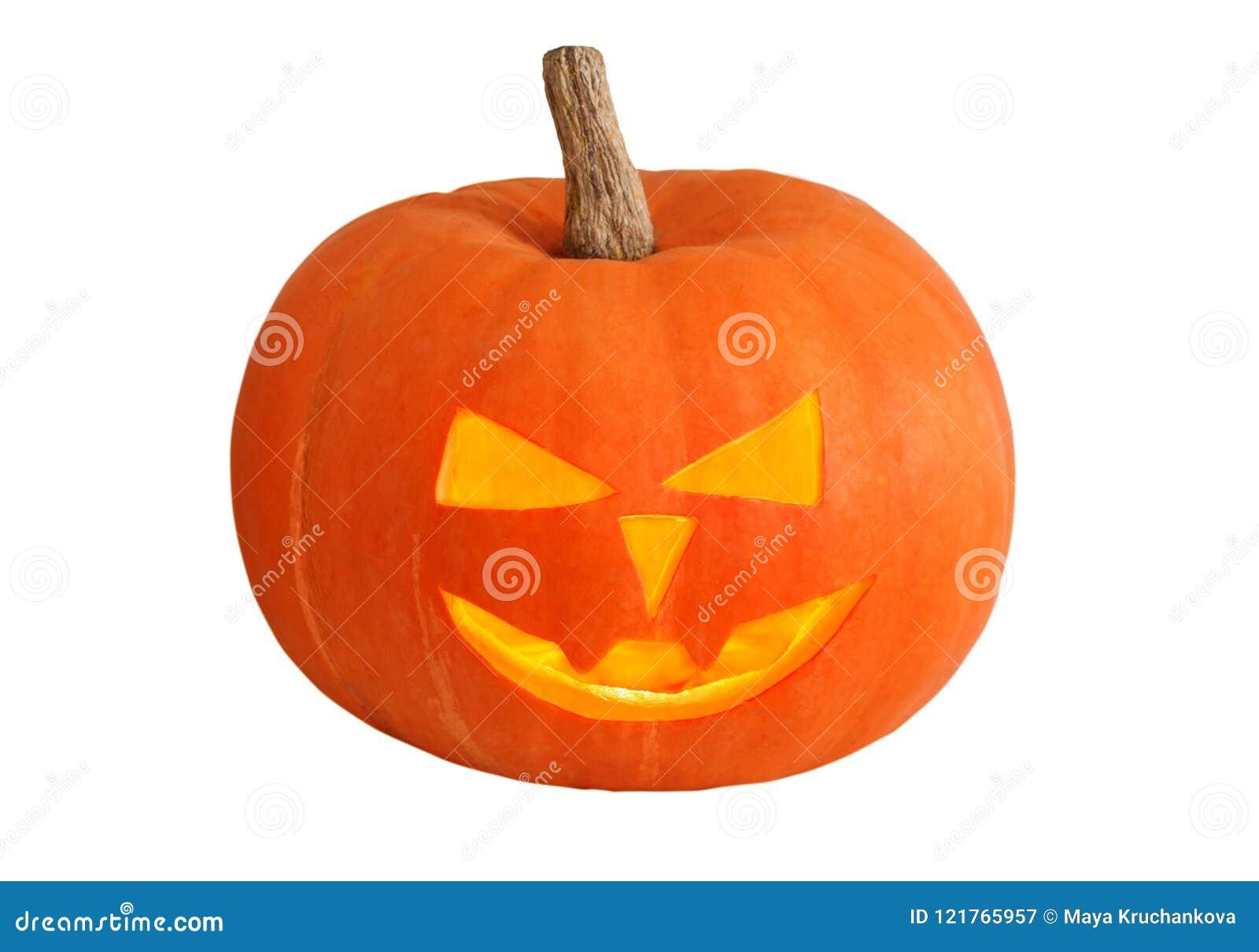 Tła Halloween odosobniony dyniowy biel