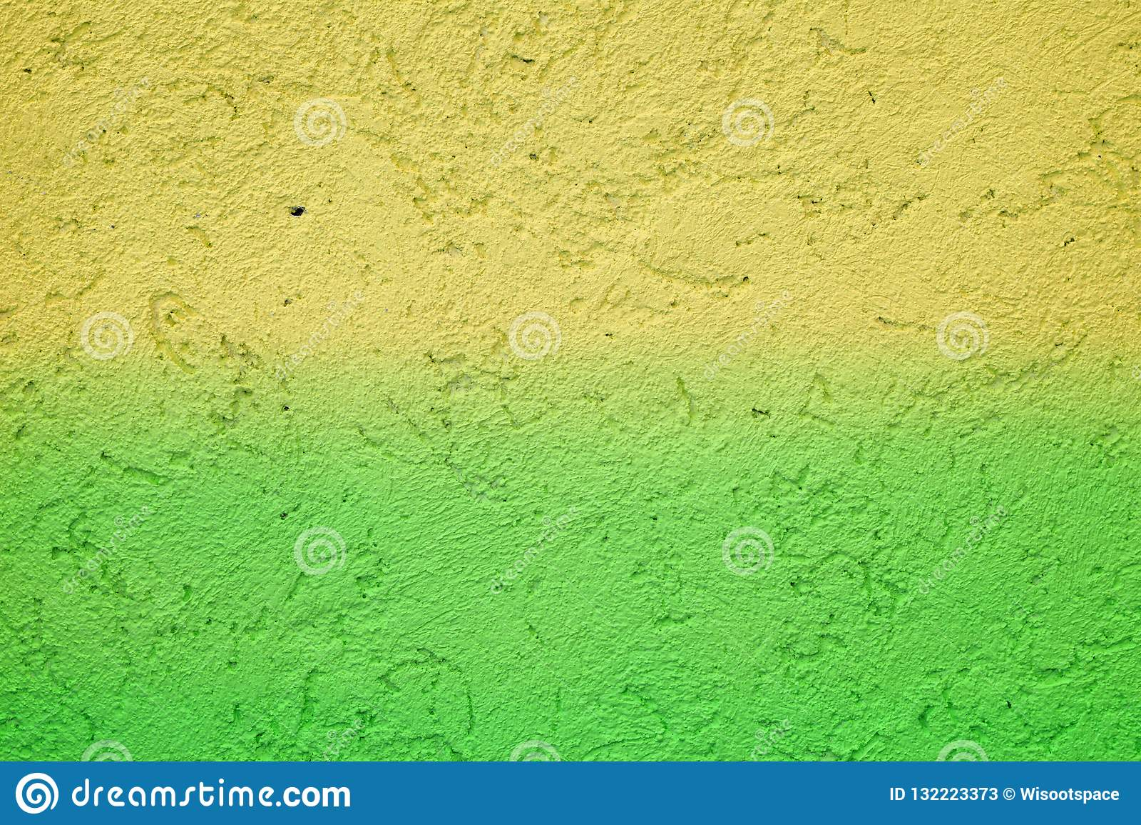 Tła koloru mężczyzna muzyki wektor Grunge żółta zieleń malująca na betonowej ścianie tekstura abstrakt dla tła