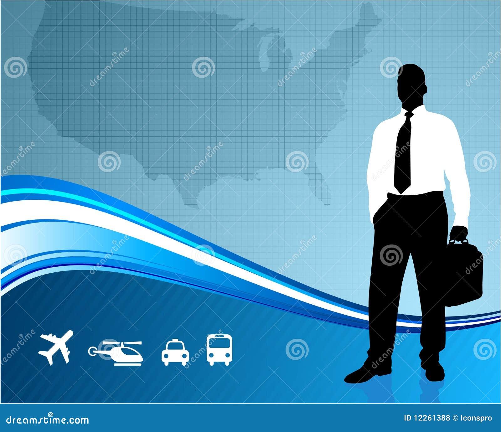 Tła komunikaci biznesowej podróżnik