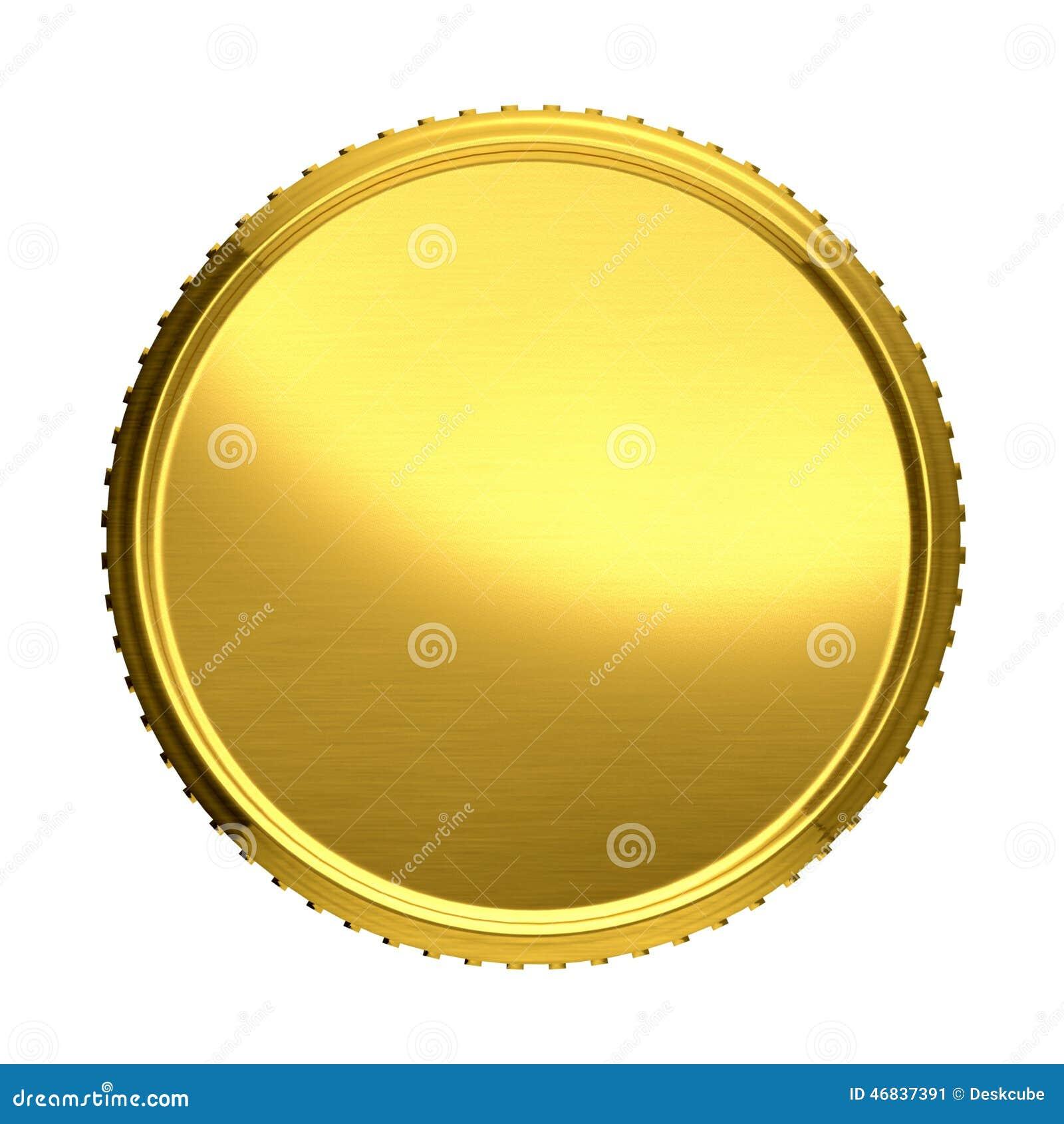 Tła menniczego złota ilustracja odizolowywający wektorowy biel